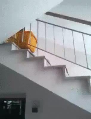 School stairs box slide