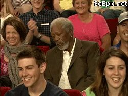 Morgan Freeman is bored and sleepy