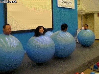 bouncing in a huge ball