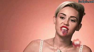 Miley Cyrus and her crazy tongue