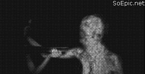 Monster in darkness