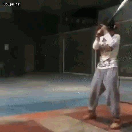 Hitting ball when…