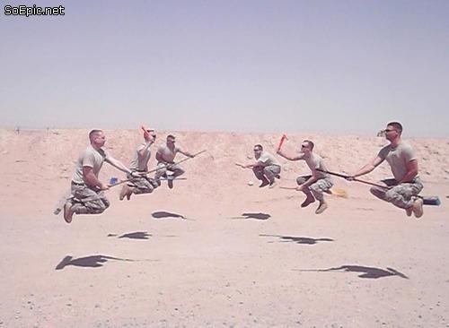 US Army brooms