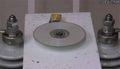 How to erase CD/DVD with electricity