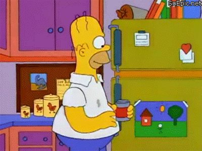 The Simpsons Beer explosion