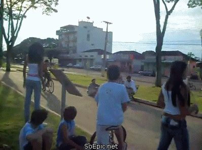 Bicycle jump fail