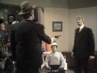funny Monty Python shooting scene