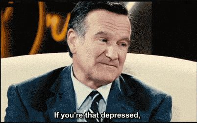 Robin Williams talks about suicide