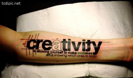 Creativity arm tattoo