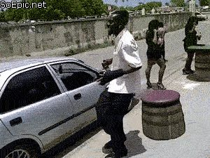 that's the way you should enter car