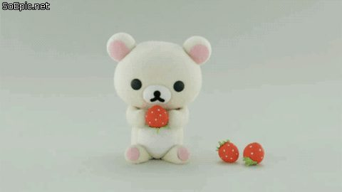 Rilakkuma, Korilakkuma eats strawberries
