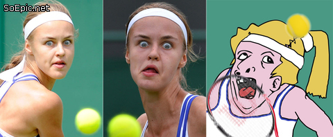 Derpy tennis player
