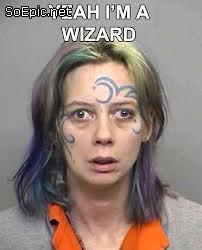 I am a wizard – funny mugshot