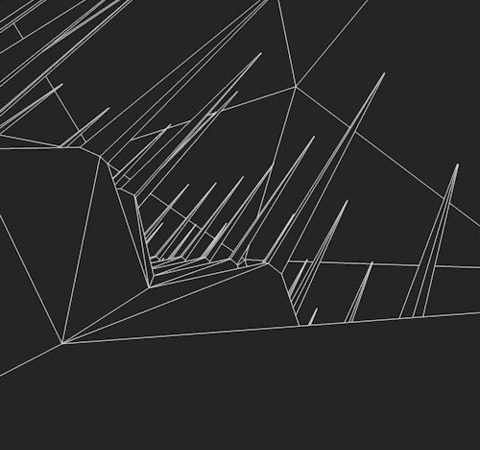 abstract low poly animation