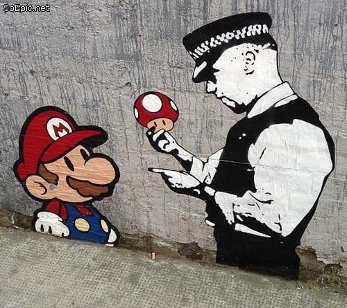 Banksy Mario Bross street art