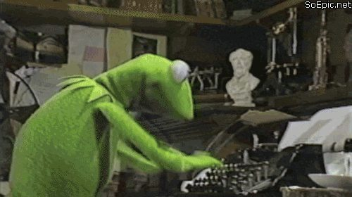 Kermit the Frog crazy typing