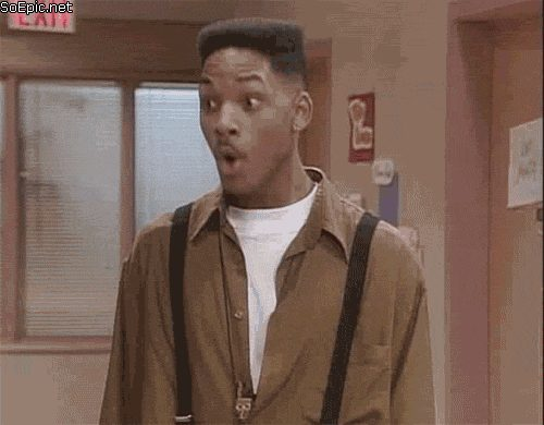 Will Smith surprised reaction